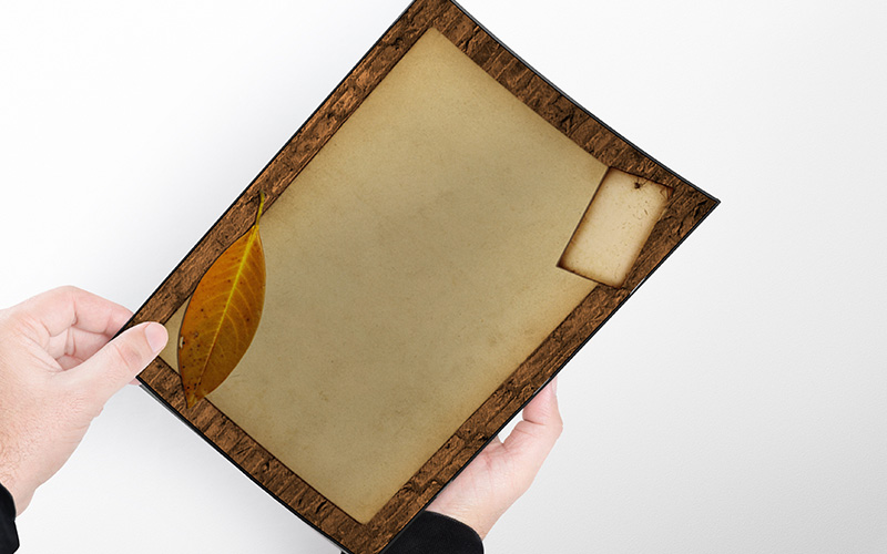 Caratula con diseño Vintage tipo Pergamino Portada