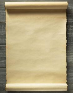 Caratula con diseño antiguo de pergamino de madera