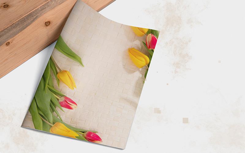Caratula con diseño de Tulipanes para Cuadernos Portada