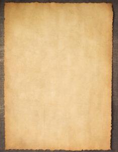 Caratula con pergamino con diseño de papel antiguo