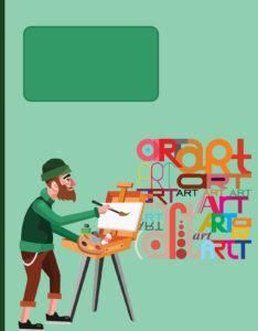 Caratula de Artista dibujando en su Sketchbook Art
