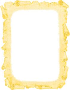 Caratula de Pergamino Antiguo para Trabajos Amarillo