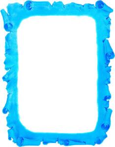 Caratula de Pergamino Antiguo para Trabajos Azul