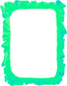 Caratula de Pergamino Antiguo para Trabajos Verde