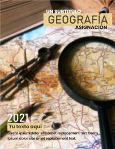 Caratula de geografía para cuaderno en word gratis