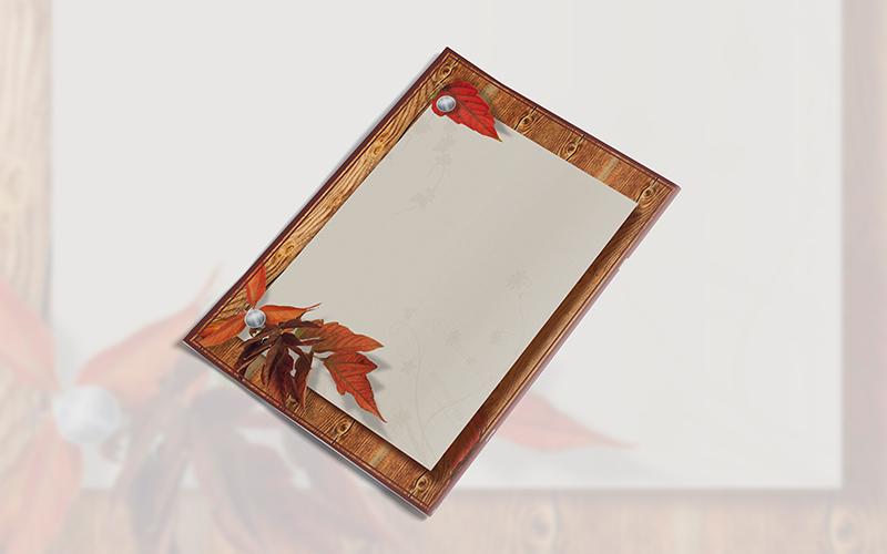 Caratula para Cuaderno con Diseño de Otoño Portada