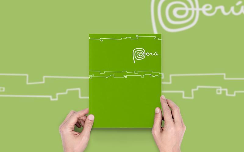 Caratula para Monografias con diseño Marca Perú