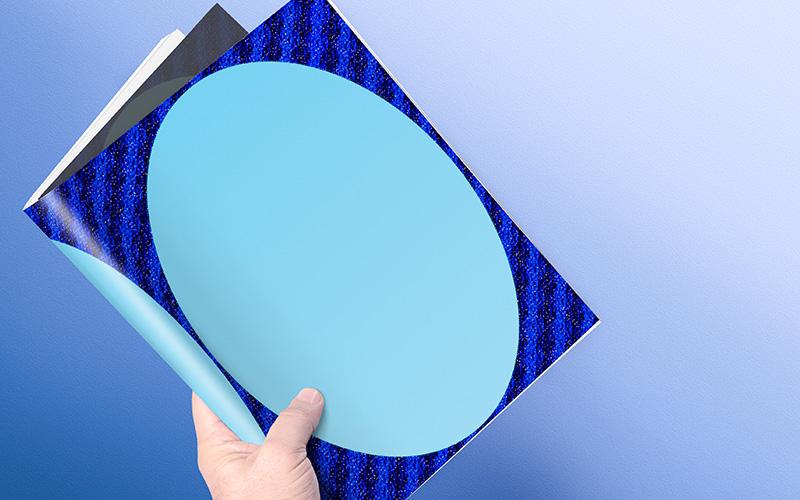 Caratula para Word con Diseño de Espejo Celeste Portada