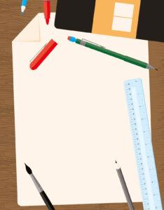 Caratula para cuaderno de Arte con diseño listo para dibujar