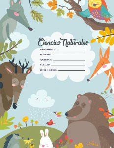 Caratulas de Ciencias Naturales Dibujo de animales