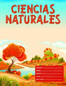 Caratulas de Ciencias Naturales para niñas fondo de naturaleza rojo