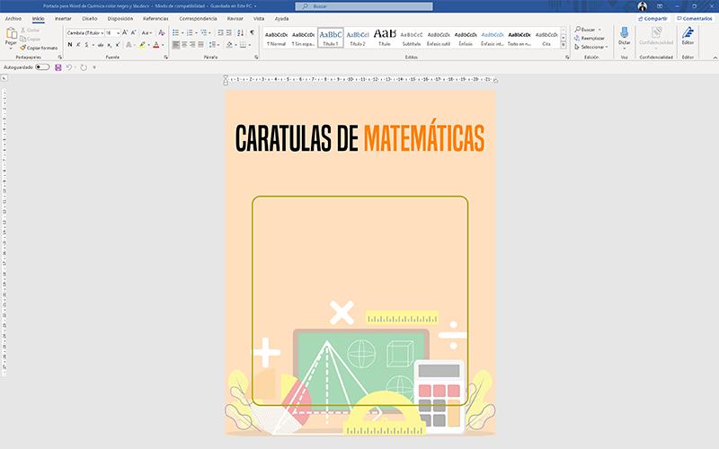 Caratulas de Matemáticas para Editar en Word Gratis