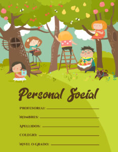 Caratulas de curso Personal Social para Cuadernos de Primaria