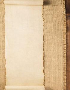 Caratulas en pergaminos con diseño de tela antigua para trabajos