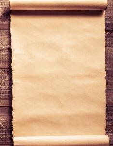 Caratulas o Pergaminos con diseño vintage con fondo de madera