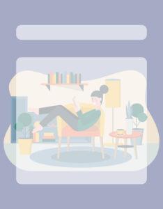 Caratulas para Comunicación Diversos Diseños Chica lee un libro