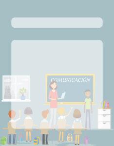 Caratulas para Comunicación: Niños en clase