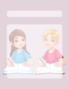 Caratulas para Comunicación: Niños con cuadernos