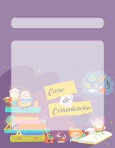 Caratulas para Comunicación: Niños leyendo encima de libros