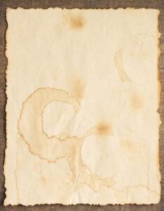 Caratulas pergaminos con diseño de hoja antigua desgastada