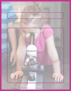 Diseños de Caratulas para Ciencia y Tecnología Niña Microscopio