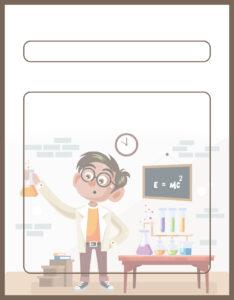 Diseños de Caratulas para Ciencia y Tecnología Niño Científico