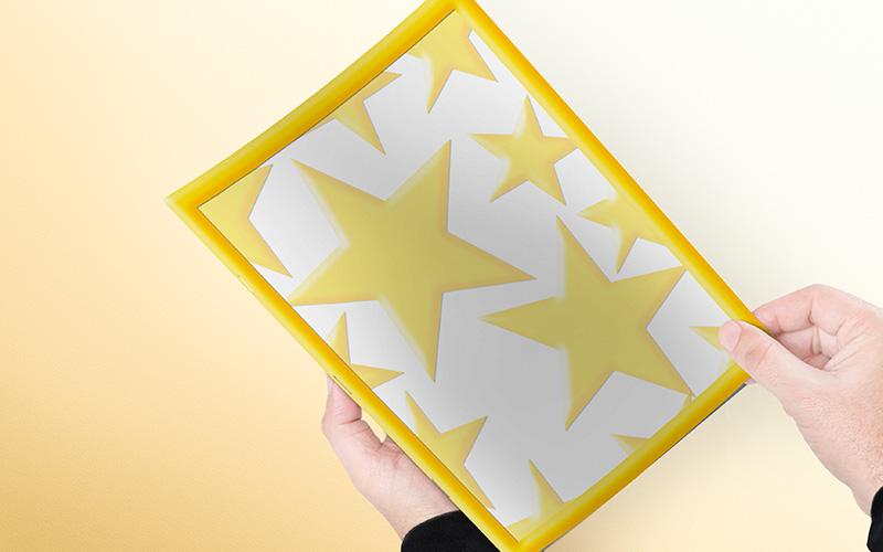 Excelente modelo de caratula con diseño de estrellas portada