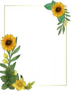 Marcos Decorativos para Hojas con Girasoles