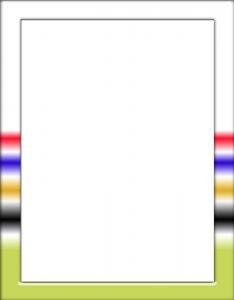 Marcos Decorativos para Hojas con rayas coloridas