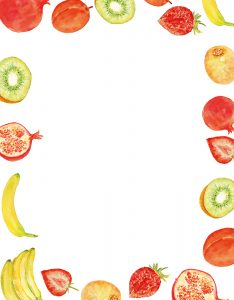 Marcos para Decorar Hojas con borde de Frutas