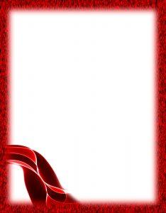 Marcos para Hojas Blancas con borde Rojo Abstracto