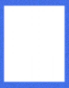 Marcos para Hojas Blancas con borde azul con manchas