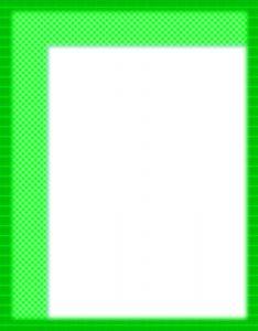 Marcos para Hojas Blancas con borde de color Verde