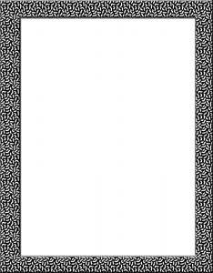 Marcos para Hojas Blancas con borde negro y blanco