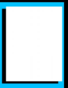 Marcos para Hojas Blancas con doble borde celeste y negro