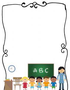 Marcos para Hojas Escolares Clase de Preescolar