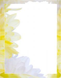 Marcos para Hojas con borde de Flores Acuarela