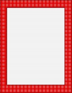 Marcos para Hojas con borde rojo y patrones