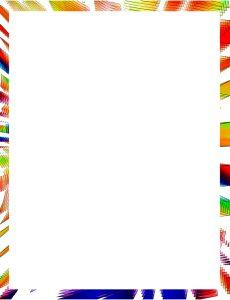 Marcos para Hojas con formas de colores