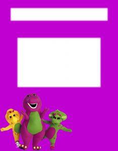 Marcos para Hojas de Niños sobre Barney y sus amigos