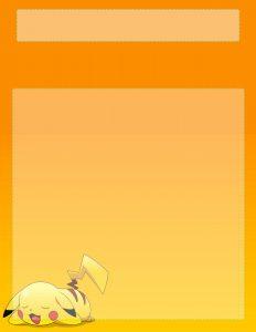 Marcos para Hojas de Niños sobre Pikachu