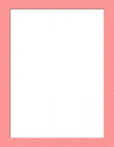 Marcos para Hojas de borde color Rosa bebé