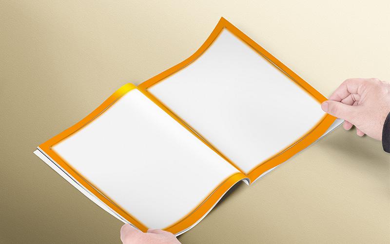 Modelos de caratulas con diseño naranja