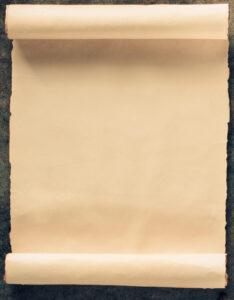 Pergamino de caratula con estilo rustico para trabajos