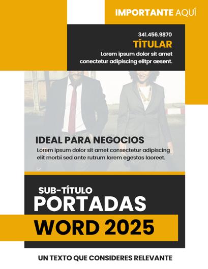 Portada de Word Amarillo para Negocios Internacionales