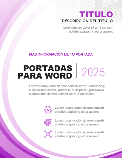 Portada de Word color Rosado