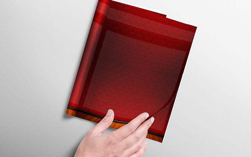 Portada para trabajos universitarios con diseño de tapiz rojo