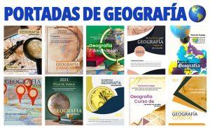 Portadas de Cuadernos para Geografía
