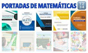 Portadas de Cuadernos para Matemáticas