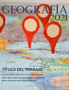 Portadas de Geografía para cuadernos puntos GPS